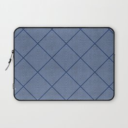 Stitched Diamond Geo in Blue Laptop Sleeve
