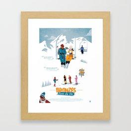 Les Bronzés font du ski - Fanart movie poster Framed Art Print