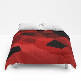 Red Polygon Pattern Comforters