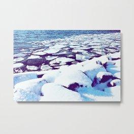 Snowy Waterfront Metal Print