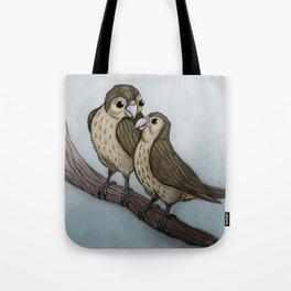 Love sparrows Tote Bag