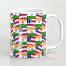 Mix of flag: usa and India Coffee Mug