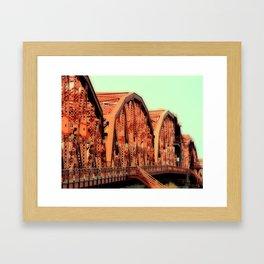 BROADWAY BRIDGE - PORTLAND OREGON Framed Art Print