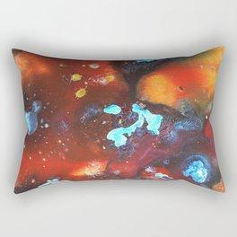 Cold Eclipse Fire Rectangular Pillow