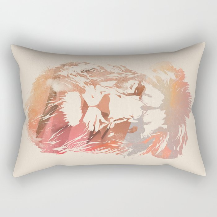 Desert Lion Rectangular Pillow