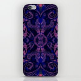 Curves & lotuses, abstract pattern, ultra-violet iPhone Skin