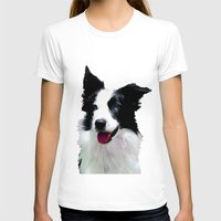 border collie T-shirts featuring Border Collie by Albert Tjandra