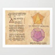 Alchemy Notebook: Quintessence Art Print