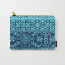 Ornate Moroccan in Blue Carry-All Pouch