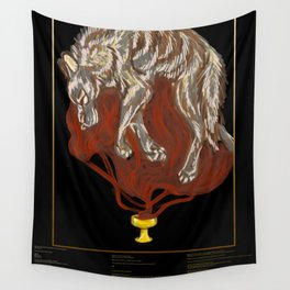 """Blood Offerings"" with Poem Wall Tapestry"