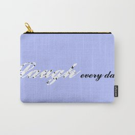 Laugh Every Day (Light Blue) Carry-All Pouch