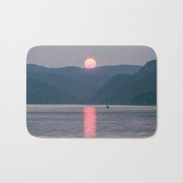 Sunset over the Fjord du Saguenay Bath Mat