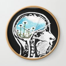 Brain Flowers Wall Clock