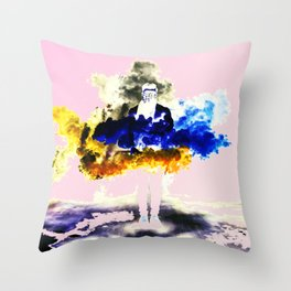 Boom Color Throw Pillow