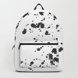 Paint Splatter On White Backpack