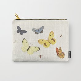 Vintage Butterfly Illustration - Yellow Carry-All Pouch