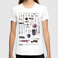 bands T-shirts featuring Famous Weapons by Daniel Nyari