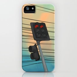 Traffic Light Afternoon iPhone Case