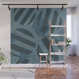 Blueprint and  Watercolor Texture 4 Wall Mural
