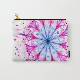 Winter Pink glittered Snowflake Carry-All Pouch