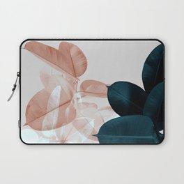 Blush & Blue Leaves Laptop Sleeve