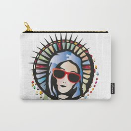 Holy Mary portrait graffiti with sunglasses Carry-All Pouch