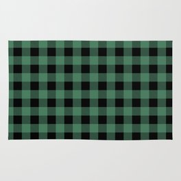 Green Flannel Rug
