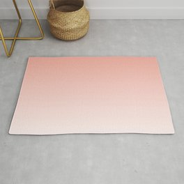 Delicate coral and white. gradient. Rug