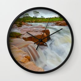 Grotto in the wet season Wall Clock