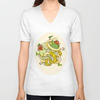 tangled V-neck T-shirts featuring Tangled by Victoria Hamre