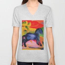"Franz Marc ""Little Blue Horse"" Unisex V-Neck"