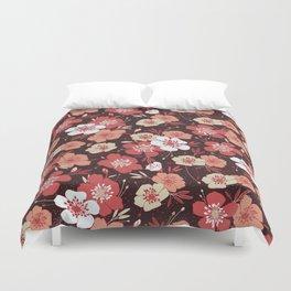 Coral flower pattern Duvet Cover