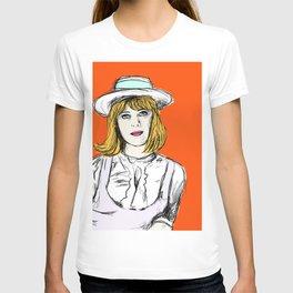 Pauline on Orange T-shirt
