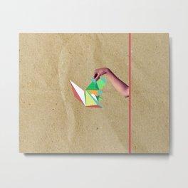 Origami Squirrel Metal Print