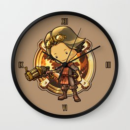 STEAMPUNK ADVENTURE INDIE GAME Wall Clock