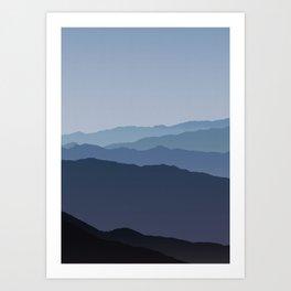 Misty Mountain Blue Art Print