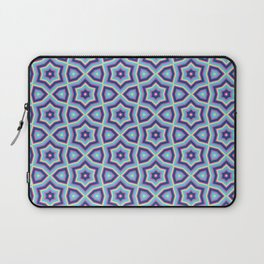 Summer fun Blue pink lime Colorful stars pattern Laptop Sleeve