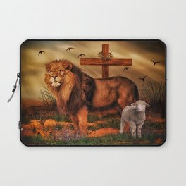 The Lion And The Lamb Laptop Sleeve