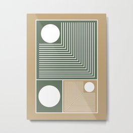 Stylish Geometric Abstract Metal Print