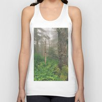 forrest Tank Tops featuring Foggy Forrest by Donovan Bennett Designs