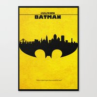 bat man Canvas Prints featuring Bat Man by A Deniz Akerman