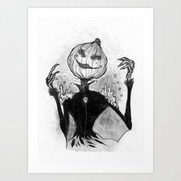 Sketchy Scarecrow Art Print
