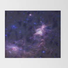 gAlAXY Purple Blue Throw Blanket