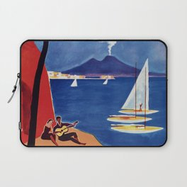 Napels Italy retro vintage travel ad Laptop Sleeve