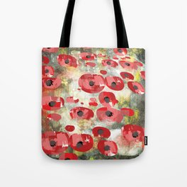 angela's poppies Tote Bag