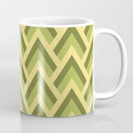Mid Century Modern Triangles (Avocado Green) Coffee Mug