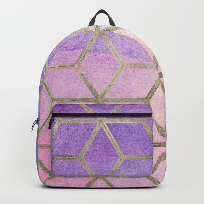 Pixie dust geometric watercolor Backpack
