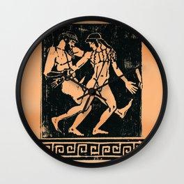Greek Man & Boy Erotica Wall Clock