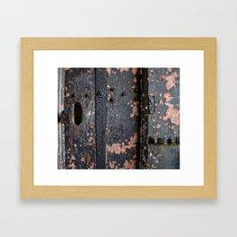 Rusty Fort Door Detail Framed Art Print