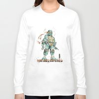 teenage mutant ninja turtles Long Sleeve T-shirts featuring Michelangelo Teenage Mutant Ninja Turtles by Carma Zoe